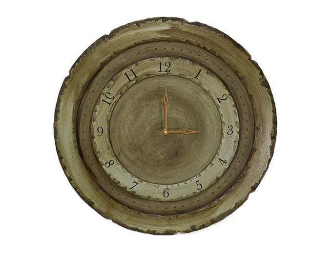 "24"" Circle Wall Clock, Custom Wall Clocks, Circle Clocks, Large Wall Clock, Rustic Wall Clocks, Distressed Clocks, Heavily Distressed Clock"