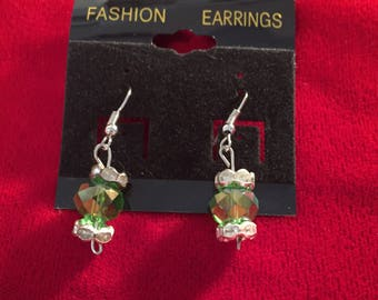 Green with silver dangle