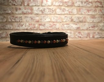 Dog Collar- Rose Gold, Pearl and stone