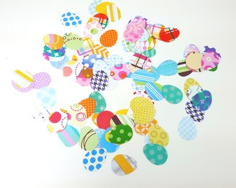 Easter Eggs Die Cut, Eggs Confetti, Eggs Embellishment, Easter Eggs Cut Outs, Egg Scrapbook, Egg Die Cuts, Egg Confetti, Paper Eggs, Easter