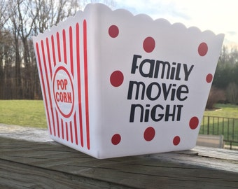Personalized Popcorn Tub *Movie Night*