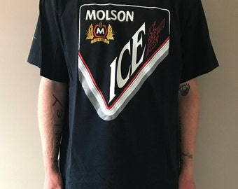 Vintage 1990s Molson Ice Beer Graphic T-Shirt Size XL