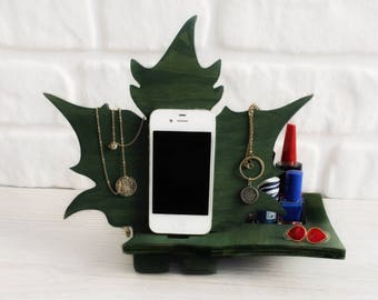 Leaf Pine Docking Station Phone Stand, Dock Station,Phone Charging Dock,Iphone Dock,Docking Station,phone Stand,charging station organizer,