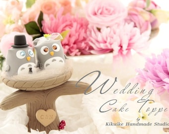 owls  Wedding Cake Topper---k525