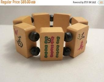 Vintage Chunky Bakelite Mahjong Tile Bracelet
