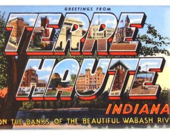 Greetings from Terre Haute Indiana Fridge Magnet