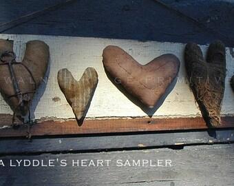 Primitive E-Pattern Instant Download Heart Sampler- by Walnut Ridge Primitives PDF 133