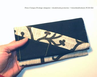 Checkbook protector made from recycled cotton