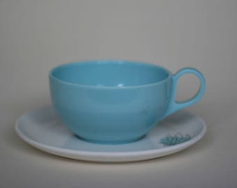 vintage brookpark melmac cup and saucer