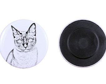 Magnet with a cat-  Tonkinese cat