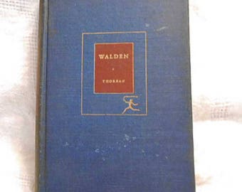 1937 WALDEN & Writings Book by Henry THOREAU Simple Living in Nature Spiritual Discovery Transcendental Civil Disobedience Mod Lib HC