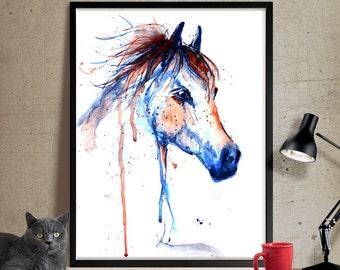 Horse Art, Horse Decor Watercolor, Horse painting Wall Art Print, Horse Print, Watercolour Horse Art PRINT (120)