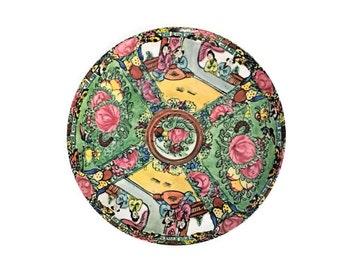 Vintage Rose Medallion Melamine Serving Tray