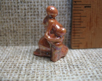 Tiny LOVE Statue - Nursing Mother Infant Breast Feeding  - French Feve Feves Porcelain Doll House Miniatures X8