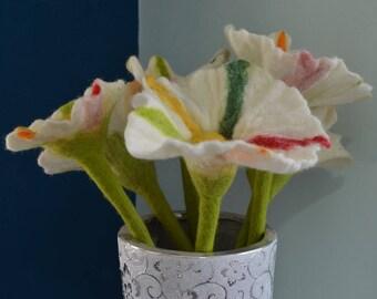 Wool felt flower, felt accessories, felt decor, flower made of felt, handmade felt flower, wool felt ornaments.