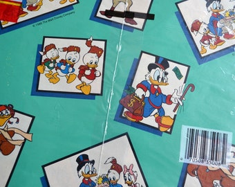 Vintage Wrapping Paper - Disney Duck Tales - 2 Full Sheets
