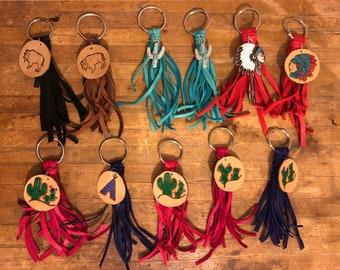 MADE TO ORDER Handmade Deerskin Tassel Keychains