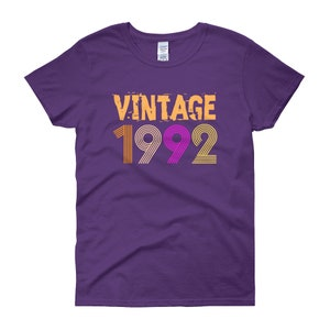 Vintage 1992, Retro 1992, Birthday T-Shirt, 26 years old, 26th birthday shirt, Women's short sleeve t-shirt, gift, birthday gift, gift idea