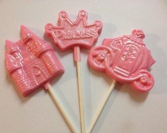 Chocolate Princess Lollipop Favors