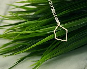 Medium Geometric Silver Pendant