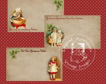Vintage Christmas Kitchen Labels Printable Digital Download