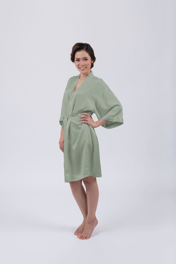 Sage Dressing Gown / Robe available with optional customised