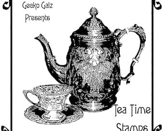 Tea Time Digital Stamp Set