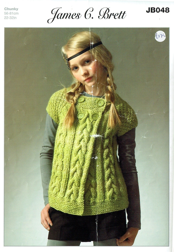 Chica original tejer patrón adolescente Rebeca James C Brett JB048 ...