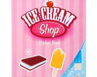 Ice Cream Shop Sticker Book, 600 stickers!