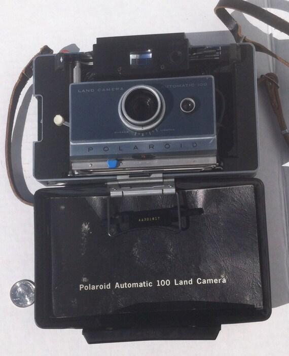 vintage polaroid automatic 100 land camera manual case nice rh etsy com Polaroid 450 Land Camera Tripod Polaroid 250 Land Camera Info