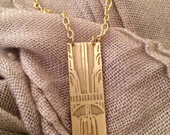 Multnomah Falls waterfall in Spring Necklace