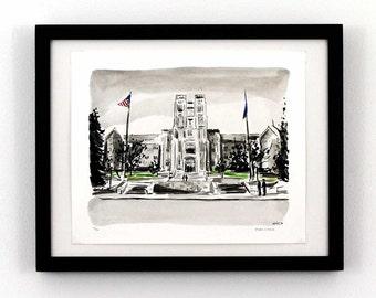 Burruss Hall - Virginia Tech - Blacksburg, Va