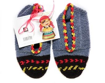 Knitted slipper