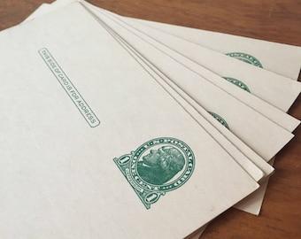 Set of 8 Vintage Unused Postcards. One Cent Stamps
