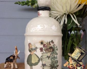Wonderland Home Decor, Handmade perfume bottle, Beekeeper bottle, Alice in Wonderland, Through the Looking Glass, French perfume bottle