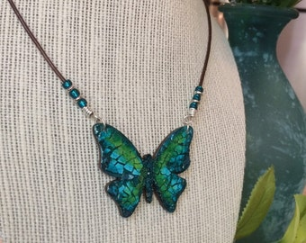 Butterfly Mosaic Necklace