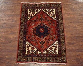 3X5 Persian Sarab Antique Hand-Knotted Wool Area Rug 1940's Carpet (2.11 x 4.9)