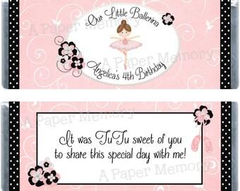 Ballerina Candy Wrapper - DIY Printable