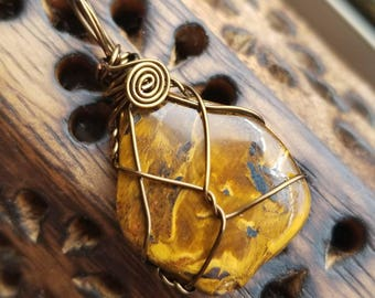 Tiger's Eye Necklace of Creativity and Golden Vitality