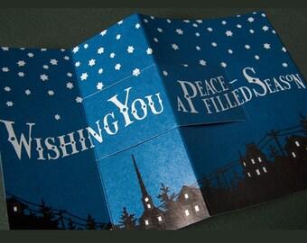 STARRY NIGHT letterpress 3D pop-up card
