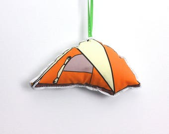 Camping Ornament: Tent Christmas Ornaments -Tree decoration