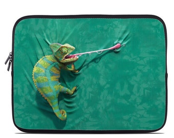 Laptop Sleeve Bag Case - Iguana by David Penfound - Neoprene Padded - Fits MacBooks + More