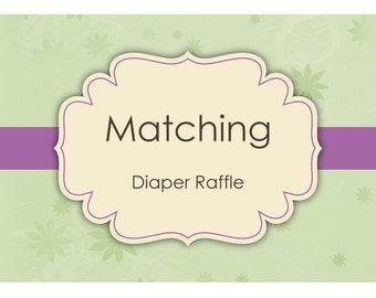 Matching Diaper Raffle - Made to Match - Digital File