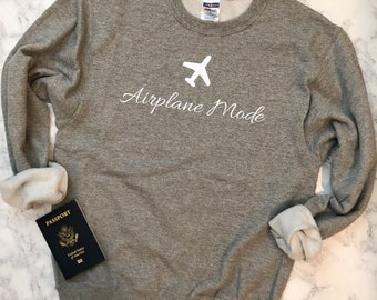 Airplane Mode Sweatshirt (Gray)