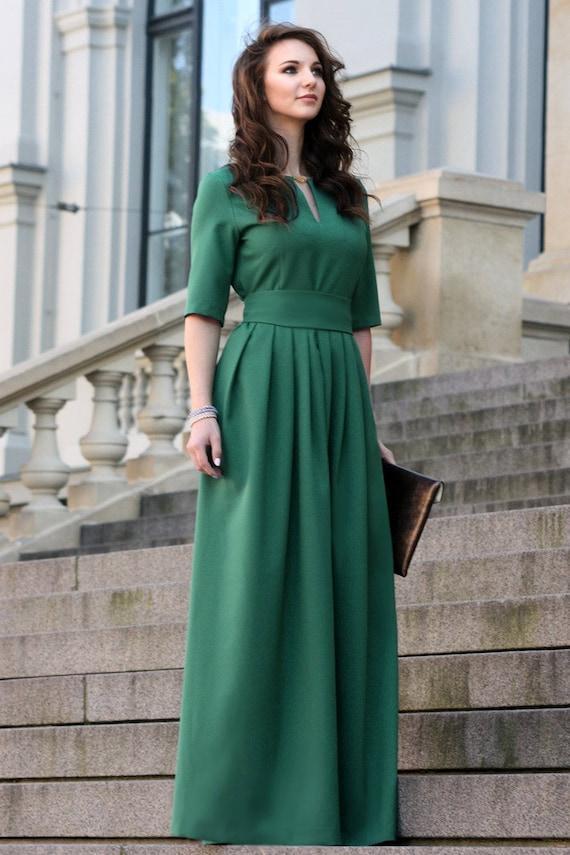 Grünes Kleid lange grünes Kleid Kleid Abendkleid Plus Size