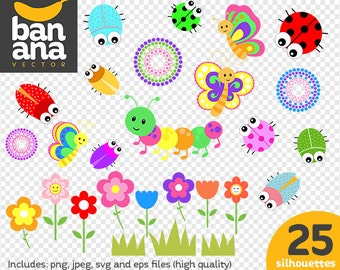 SALE Bugs Clipart png jpg svg eps files high resolution BV-CO-0010