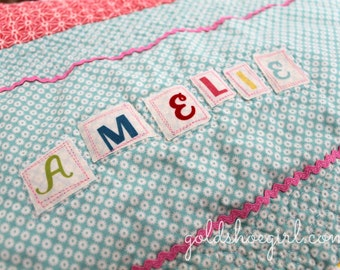 Custom Quilt ~ Made to Order Patchwork Quilt - Design Your Own Quilt - Toddler Size Patchwork Quilt