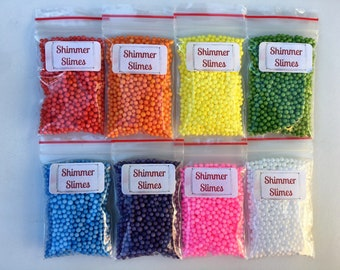 Floam Beads - Single Bags of Foam Beads - for Floam and Crunchy Slimes - Choose your colour from the list :-)