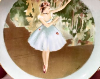 Vintage Ballerina Plate Degas Collector Plate Ballet Plate