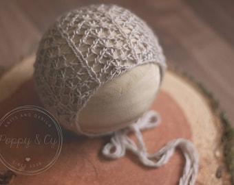 Marianne Newborn Bonnet Knitting Pattern, Knit Prop Pattern, Knitting Photography Prop Pattern, Knit Bonnet Pattern, Newborn Bonnet